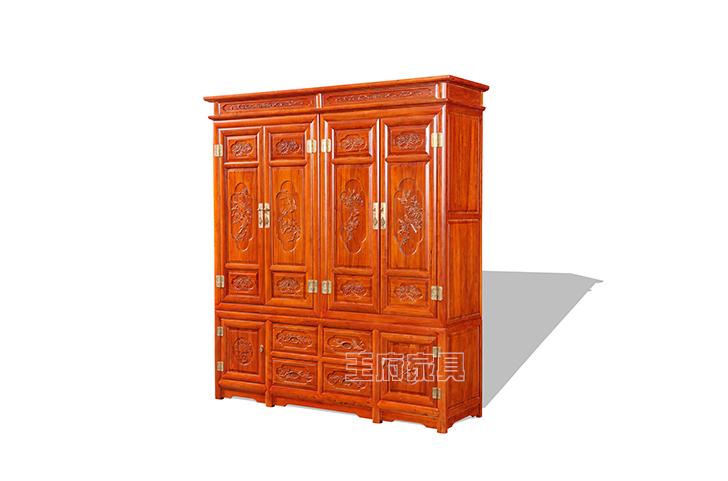 老式榆木大衣柜