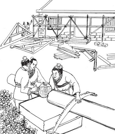 """中国古代工匠鼻祖""""鲁班""""简介"""